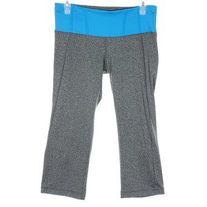 REFLEX Workout Crop Pants Leggings Yoga Gray Blue
